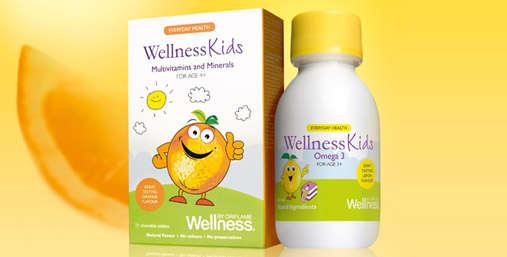 детские витамины велнес ОМЕГА-3 и WELLNESS KIDS