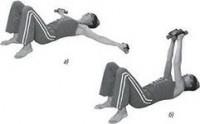 Гимнастика для увеличения груди с гантелями на дому
