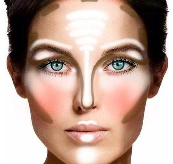 Правила макияжа - контурирование лица